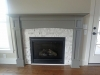 Fireplace mantel with Gas logs