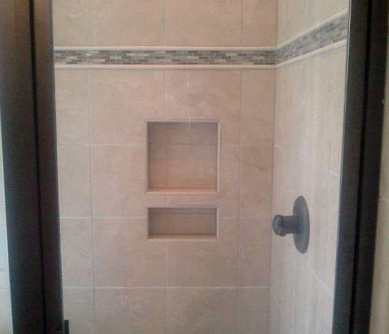 Tile Shower With Decorative Trim Grace Construction Inc - Decorative tile trim in shower
