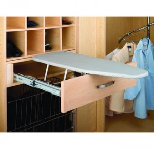 Built in drawer ironing board